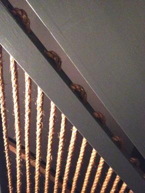Trapgat manilla touw detail