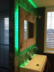 led spiegel groen