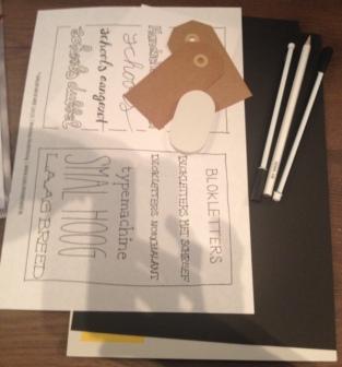 Materialen voor Workshop Handlettering