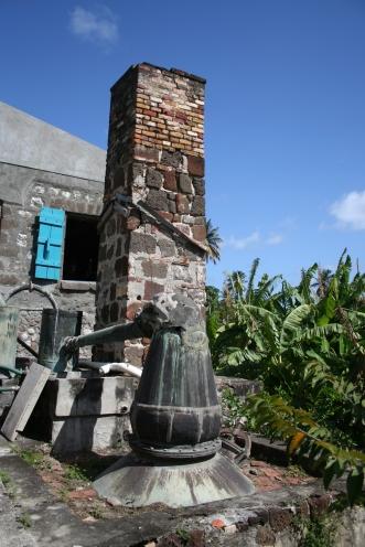 Voormalige rumfabriek op Grenada