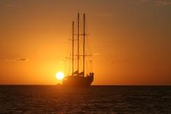 M.S. De Eendracht bij Grenada
