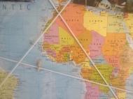 Detail wereldkaart