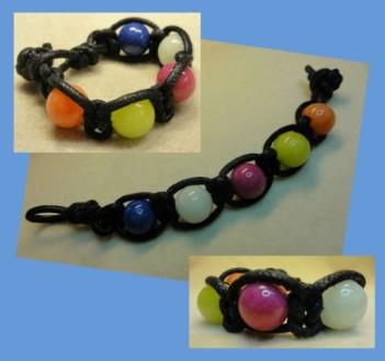 14-116 Gevlochten armband kleurig (5) (Small)
