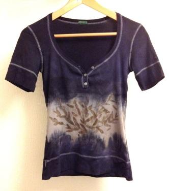 Ecoprint t-shirt by Handfelt.nl