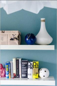 Detail IKEA boekenplank