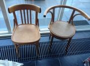 Onbehandelde stoelen, klaar om kleur te krijgen!